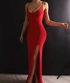 Our 'Jasmine' Dress in Bright Red // order now for delivery in time for New Year's Eve // www.boomboomthelabel.com