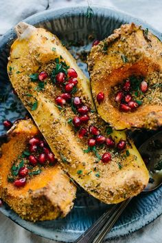 """""""Cheesy"""" Herb-Crusted Squash   dolly and oatmeal"""