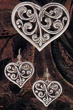 Norwegian pewter heart jewelry...very purity..but pewter has been found to poisonous to some people and can become toxic in bloodstream... just a FYI...