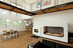 Kachelöfen - Andreas Zapfe - Ofenbau - Kachelofen - Speicherkamin Stove Fireplace, Fireplace Design, Built In Ovens, Living Spaces, Living Rooms, Tiny House, Indoor, Warm, Modern Fireplaces