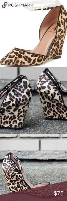 Spotted while shopping on Poshmark: Ava & Aiden Ashley D'Orsay Wedge in Leopard Size 9! #poshmark #fashion #shopping #style #Ava & Aiden #Shoes