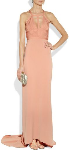 Hervé Léger Cutout Bandage Gown in Pink (blush) - Lyst