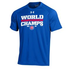Chicago Cubs Under Armour 2016 World Series Champions Tech Performance T-Shirt - Royal - $29.99