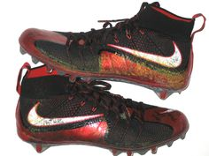 Michael Wilhoite San Francisco 49ers Game Worn & Signed Red and Black Nike Vapor Untouchable Cleats