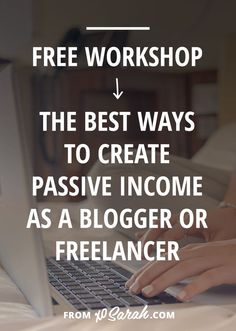 YOU'LL LEARN . . . The number one way to create passive income for your business. How to SIMPLY set up the tech stuff so your products are truly passive. How to keep making sales after the launch. Why eBooks and eCourses are the best way to create passive income streams for your blog. And a ton more!