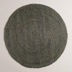 One of my favorite discoveries at WorldMarket.com: Gray Round Braided Jute Area Rug