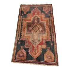 "Image of Vintage Turkish Oushak Area Rug - 2'10"" X 4'9"""