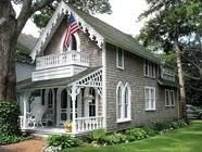 Approximately 300 such gingerbread cottages situated on an old Methodist Campground in Oak Bluffs, Martha's Vineyard.