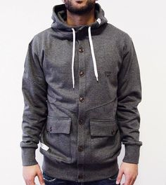 DreamTeam Clothing-Coaty heather charcoal