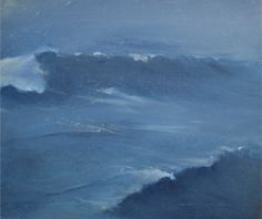 ocean   oil on canvas