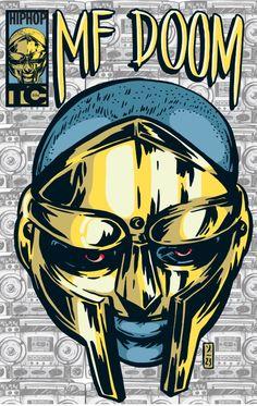 MF Doom Comic Art Print