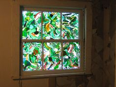 recycled stain glass window