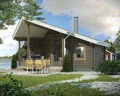 Hirsimökki Nuuna 37 - Kuusamo Hirsitalot Off Grid Tiny House, Tiny House Living, Koti, Log Cabins, Outdoor Decor, Home Decor, Decoration Home, Room Decor, Wood Cabins