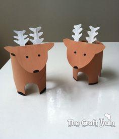 renos hechos con tubos de cartón                                                                                                                                                     Más