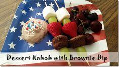 Dessert Kabob with Brownie Dip #PriceChopperBBQ #shop #cbias