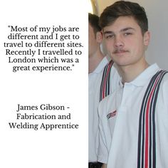 #NAW2016 is almost at a close, James Gibson, our Fabrication & Welding Apprentice shares a quote on Apprenticeship.
