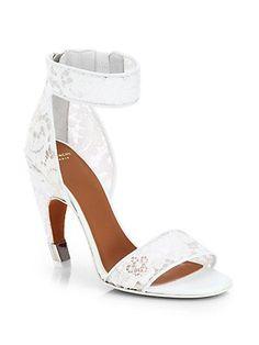 45fb4f0207 Givenchy - Macramé Lace Sandals - Saks.com  Shoeshighheels