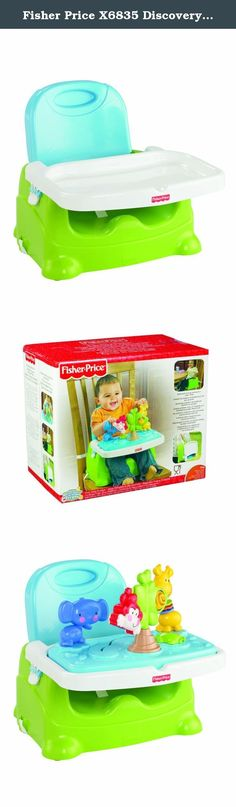 Fisher Price X6835 Discovery Booster Seat. The Zoo Booster entertains your baby at mealtime with a series of jokes. The dock comes with cute pets for your baby to play with while you prepare the food. It has a turtle, a giraffe, an elephant and a tree with several options of play and visual and tactile stimuli. It easily folds for compact storage and travel and has dishwasher safe parts. The surfaces are also easy to clean. The booster includes three points of safety and a strap that fits…