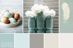 Duck egg blue complementary color schemes