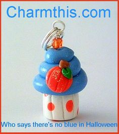 Polymer Clay Pumpkin Cupcake Charm by CharmthisClayCharms on Etsy, $3.00