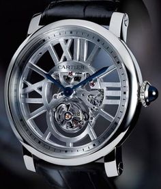 Limited Edition Rotonde de Cartier Skeleton Flying Tourbillon Watch