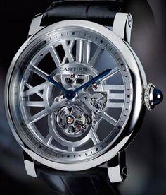 Limited Edition Rotonde de Cartier Skeleton Flying Tourbillon Watch