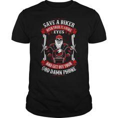 Save a biker open your eyes shirt