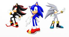 Image result for sonic, shadow and silver