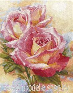 Схему Вышивки Крестом Садовые Розы1046 От Риолисы