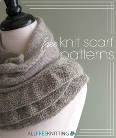Autumn is here! Bundle up with this lovely list of free knit scarf patterns!