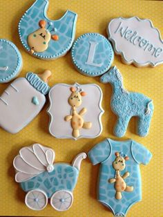 Baby shower cookies by My Nana's Nibbles