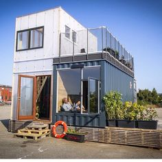 It's amazing some of the houses people are building out of recycled shipping…