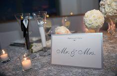 Glamorous White and Silver New York Wedding