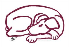 JACQUELINE DITT - Dog Red A3 sign. ltd. 2/55 Original Grafik Tier Hund mittelgr.