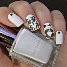 Nailpolis Museum of Nail Art Panda Nail Art, Animal Nail Art, Ruby Nails, Matte Nail Colors, Coffin Nails Ombre, Nail Stamper, Nail Art Stripes, Nail Accessories, Nail Decorations