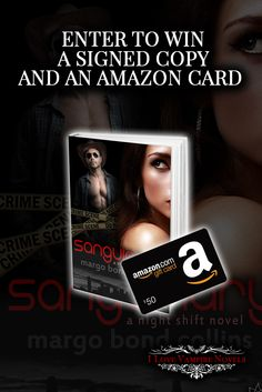 Win a $50 Amazon Gift Card & a Signed Paperback From Bestselling Author Margo Bond Collins http://www.ilovevampirenovels.com/giveaways/win-a-50-amazon-gift-card-margo-bond-collins/?lucky=82581