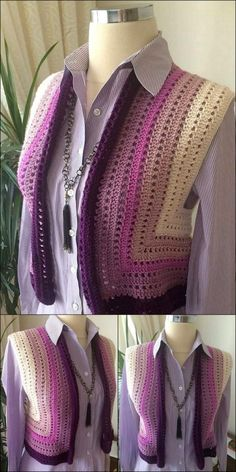 DIY Crochet Small Jar crochet pattern idea - DIY Crochet Small Jar crochet pattern idea You are in the right place about diy face mask sewing pat - Pull Crochet, Crochet Diy, Crochet Woman, Thread Crochet, Crochet Stitches, Vintage Crochet, Crochet Cardigan Pattern, Crochet Jacket, Crochet Blouse