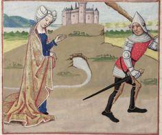 [folio 110v] MS. Douce 195 (Le roman de la rose) XV cnt. Robinet Testard  http://romandelarose.org/#browse;Douce195