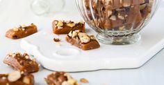 Nötter i ganache - Recept Nut Recipes, Sweet Recipes, Christmas Candy, Fudge, Panna Cotta, Pudding, Sweets, Breakfast, Healthy