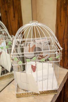 DIY Bird Cage Wedding Card Holder