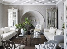 The Enchanted Home: Designer Spotlight: John Jacob Interiors- an encore! love the white sofas!