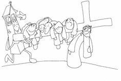 SGBlogosfera. Amigos de Jesús Jesús ayudado por el Cireneo_bn