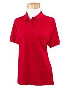 Gildan G948L Ladies' Short Sleeve DryBlend Piqué Sport Shirt - Red G948L L Gildan. $9.99