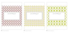 Free Wedding Templates: Book Plates for Your Book Favors