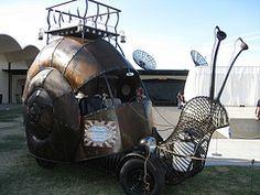 Steam punk snail car