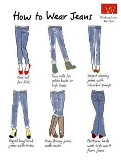 Hey #Fashionista, check these different #styles of adorning #jeans.