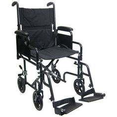 Lightweight Transport Wheelchair with Detachable Desk Arms Seat Size 17 W *** This is an Amazon Associate's Pin. Click the image to view the details on Amazon website.