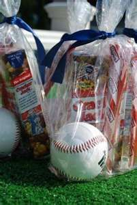 Baseball party favors (can do this with any sport).