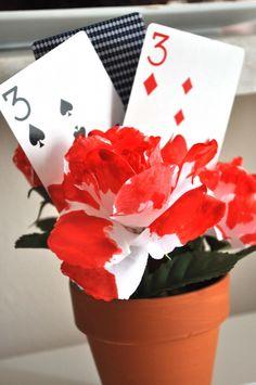 alice in wonderland -- cute and simple centerpiece idea