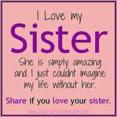 love my sister inspiration - love my sister . love my sister quotes . love my sister funny . love my sister sibling . love my sister thankful for . love my sister inspiration . love my sister hindi . love my sister heart Cute Love Quotes, Little Sister Quotes, Sister Poems, Father Daughter Quotes, I Love You Sister, Best Friends Sister, Bob Marley, Funny Videos, Sisterhood Quotes